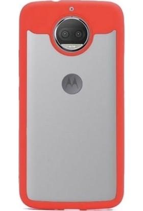 Teleplus Lenovo Moto G5S Plus Çift Renk Silikonlu Kılıf Kırmızı