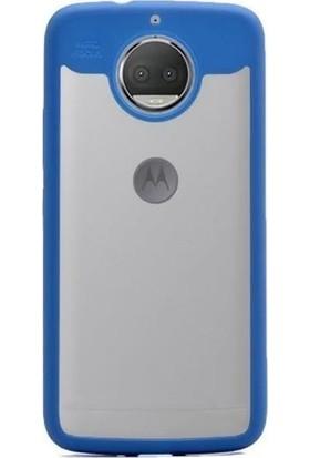 Teleplus Lenovo Moto G5S Plus Çift Renk Silikonlu Kılıf Mavi
