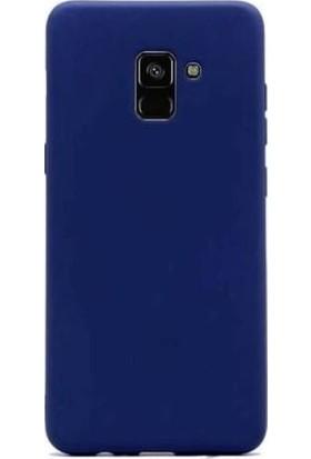 Teleplus Samsung Galaxy A8 2018 Lüks Silikon Kılıf Lacivert