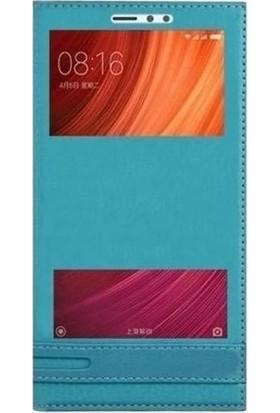 Teleplus Xiaomi Redmi Note 5A Prime Pencereli Kapaklı Kılıf Turkuaz