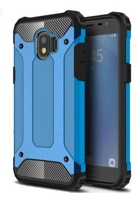 Teleplus Samsung Galaxy J2 Pro Çift Katmanlı Tank Kapak Kılıf Mavi