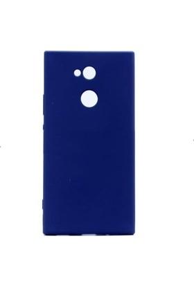 Teleplus Sony Xperia XA2 Lüks Silikon Kılıf Lacivert