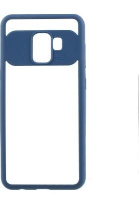 Teleplus Samsung Galaxy J2 Pro Button Silikonlu Kılıf Mavi