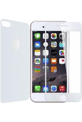Teleplus iPhone 8 Plus Ön Ve Arka Cam Ekran Koruyucu Beyaz