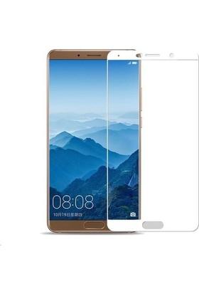 Teleplus Huawei Mate 10 Tam Kapatan Cam Ekran Koruyucu Beyaz