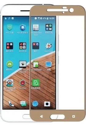 Teleplus HTC 10 Full Koruma Temperli Cam Ekran Koruyucu Gold