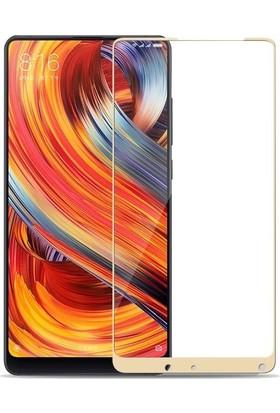 Teleplus Xiaomi Mi Mix 2 Tam Kapatan Cam Ekran Koruyucu Gold