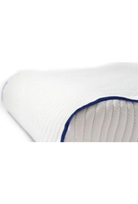 Rahatsan Şerit Mavi Boyun Destekli Visco Yastık