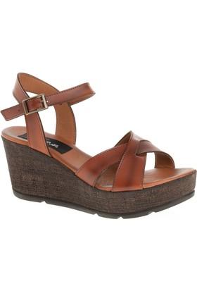 Derigo 52525 Kadın Sandalet Taba