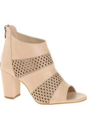Derigo 4018068 Ten Rengi Kadın Topuklu Ayakkabı