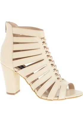 Derigo 20306 Kadın Ayakkabı Krem Rengi