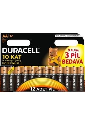 Duracell Alkalin AA Kalem Pil 12li