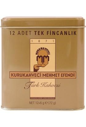 Mehmet Efendi Türk Kahvesi 12li Tek Kullanımlık Teneke Kutu