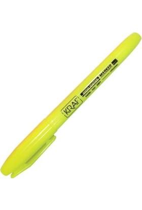 Kraf Fosforlu Kalem Tipi Gövde Sarı