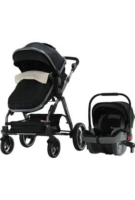 Yoyko Deluxe GT Travel Sistem Bebek Arabası 3 In 1 Siyah Füme