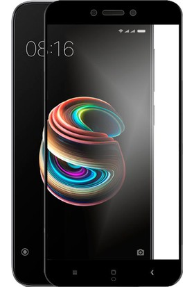 Case 4U Xiaomi Redmi 5A Tam Kaplayan Ekran Koruyucu - Nano Fiber - Siyah