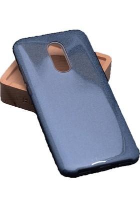 Case 4U Xaomi Redmi 5 Plus Kılıf Shining Simli Silikon Arka Kapak - Siyah