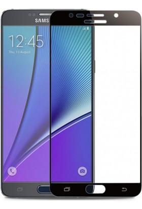 Case 4U Samsung Galaxy Note 5 Tam Kaplayan Ekran Koruyucu - Nano Fiber - Siyah