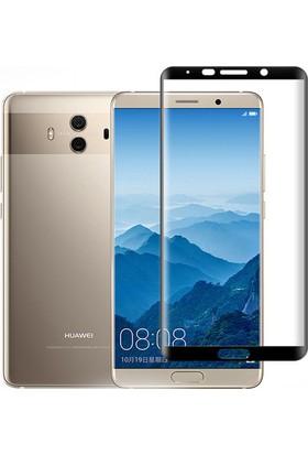 Case 4U Huawei Mate 10 Pro Tam Kaplayan Ekran Koruyucu - Nano Fiber - Siyah