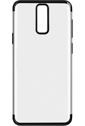 Case 4U Huawei Mate 10 Lite Lazer Kaplamalı Şeffaf Silikon Kılıf - Siyah