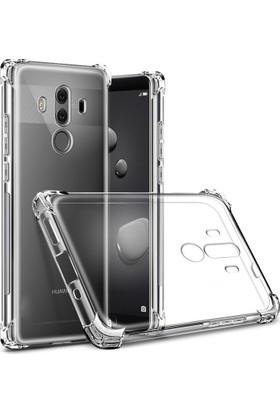 Case 4U Huawei Mate 10 Pro Anti-shock Darbeye Dayanıklı Silikon Kılıf - Şeffaf