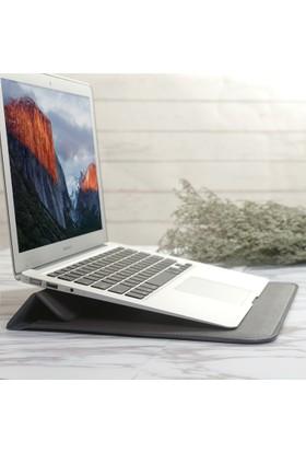 Macstorey Apple Macbook Deri Kese Kılıf Stand Çanta 15 15.4 İnç
