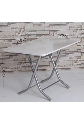 Hepsiburada Home Katlanır Masa - Beyaz (70X110)