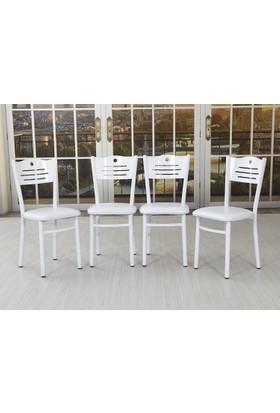 Hepsiburada Home Okyanus Sandalye Takımı 4'Lü - Beyaz