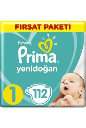 Prima Bebek Bezi Yeni Bebek 1 Beden Yenidoğan Fırsat Paketi 112 Adet
