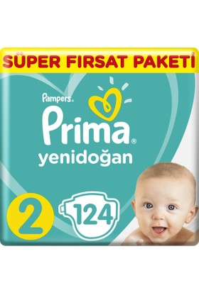 Prima Bebek Bezi Yeni Bebek 2 Beden Mini Süper Fırsat Paketi 124 Adet
