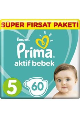 Prima Bebek Bezi Aktif Bebek 5 Beden Junior Süper Fırsat Paketi 60 Adet
