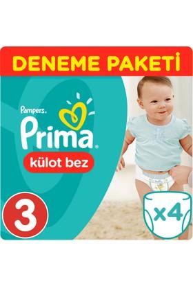 Prima Pants Külot Bebek Bezi Deneme Paketi Midi 3 Beden 4 Adet