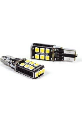 Photon T10 Turuncu 15 LED 6000K Can Bus Exclusive Series Park Ampulü