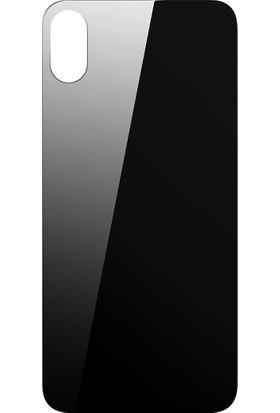 Alisveristime Apple iPhone X Arka Koruyucu Kırılmaz Cam Ekran Koruyucu Siyah