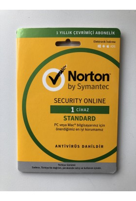 Symantec Norton Security Online Standard 1 Cihaz