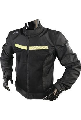 Yazlık Motosiklet Montu. dURT Look Erkek Siyah.