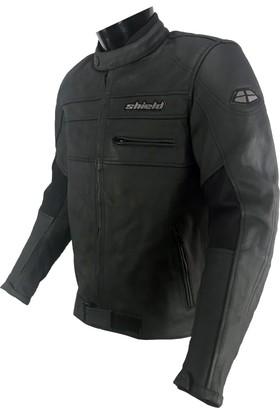 Deri Korumalı Erkek Motosiklet Montu. dURT Shield