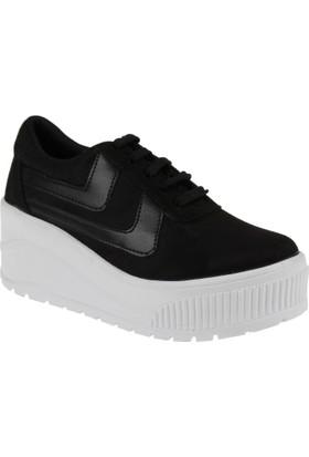 Shalin Kadın Ayakkabı Szr 3201 Siyah Süet