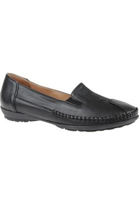 Beety Hakiki Deri Kadın Ayakkabı Bty 134 Siyah