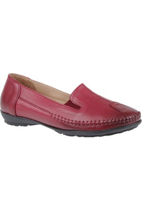 Beety Hakiki Deri Kadın Ayakkabı Bty 134 Bordo