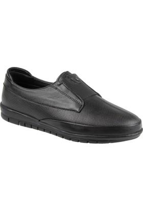 Beety Hakiki Deri Kadın Ayakkabı Bty 405 Siyah