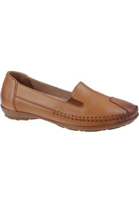 Beety Hakiki Deri Kadın Ayakkabı Bty 134 Taba