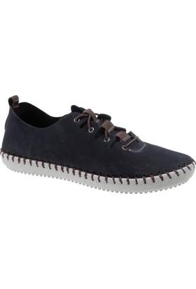 İloz Hakiki Deri Kadın Ayakkabı Snj 122101 Lacivert
