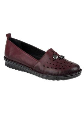 Beety Hakiki Deri Kadın Ayakkabı Bty 02 Bordo