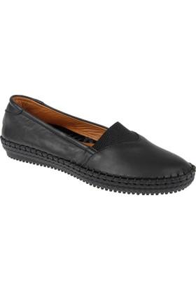 Shalin Hakiki Deri Kadın Ayakkabı Est 178 Siyah