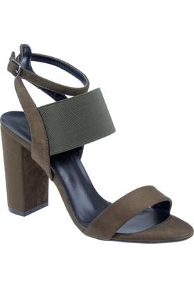 Punto Kadın Sandalet Pun 547647 Yeşil Süet