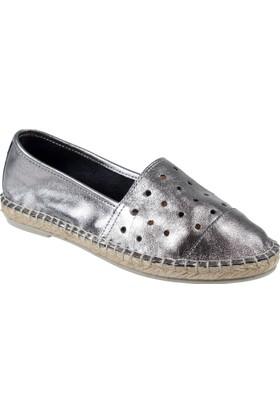 Shalin Hakiki Deri Kadın Ayakkabı Hnz 1154 Bronz