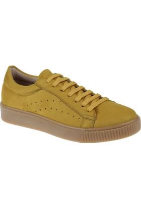 Shalin Kadın Sneaker Cd 7010 Hardal Süet