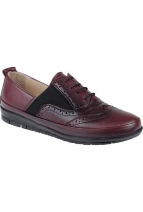 Beety Hakiki Deri Kadın Ayakkabı Bty 6169 Bordo