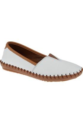 Beety Hakiki Deri Kadın Ayakkabı Bty 302 Beyaz